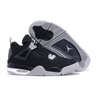 Air Jordan 4 (IV) Retro Black Canvas/White-Grey For Sale