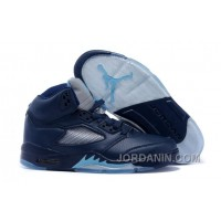 "2016 Air Jordans 5 ""Hornets"" Midnight Navy/Turquoise Blue-White For Sale"