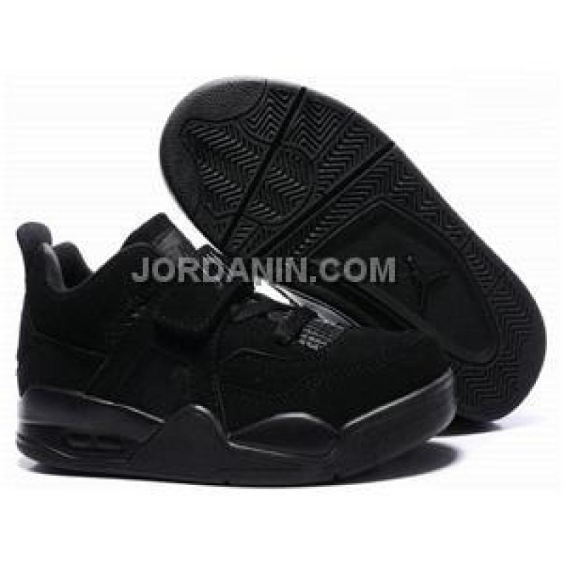 228331445dd58d ... Kids Air Jordan 4 Retro Low Black Cat New .