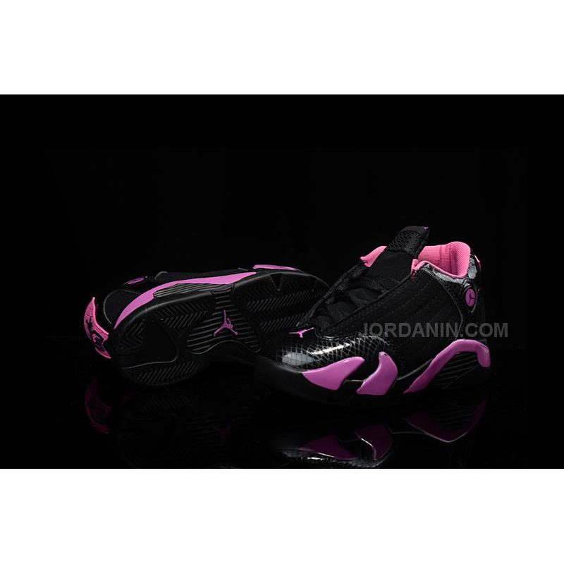 on sale 882e9 a43a4 ... Kids Air Jordan 14 Retro Black Pink Cheap