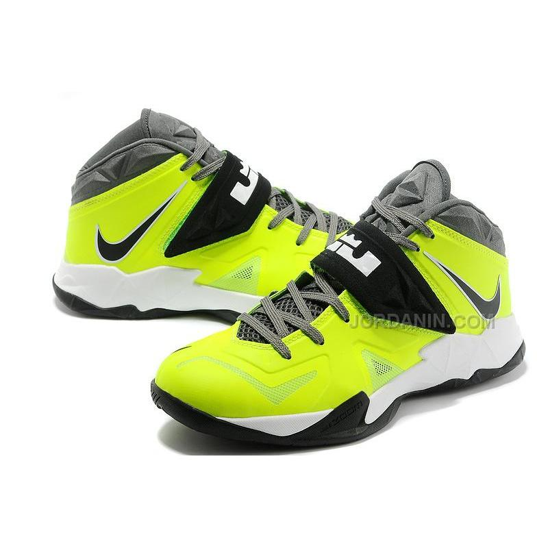 bd8bc86ed39c Nike Zoom Lebron Soldier 7 Green Black White For Sale