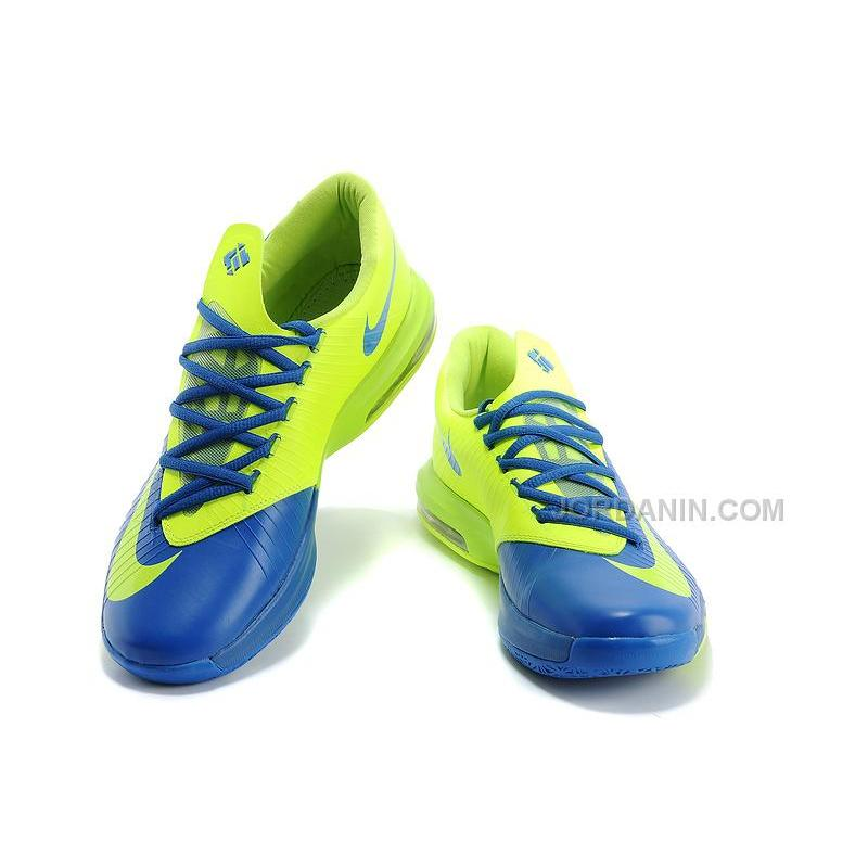 san francisco 6220f 285a1 ... Nike Kevin Durant KD 6 VI Royal Blue Neon Green For Sale Free Shipping  ...