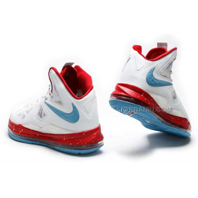 Lebron 10 red and white