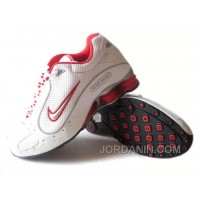 Men's Nike Shox Monster Shoes White/Red/Grey Free Shipping
