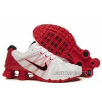 Men's Nike Airmax 2009 & Shox R4 Shoes White/Gym Red/Black New Release