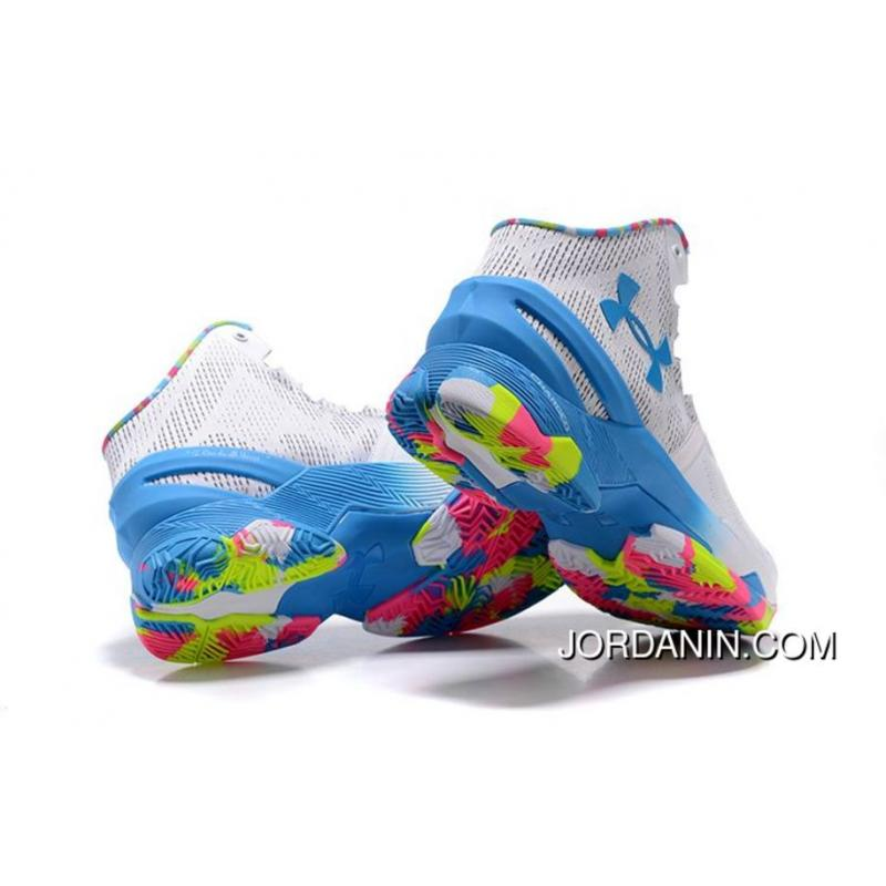 wholesale dealer 38fee 5db71 ... 'Surprise Party' Under Armour Curry 2 White/Mojo Pink-Electric Blue  Super