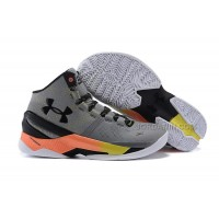 Womens Under Armour Curry Two Grey Orange Yellow Cheap