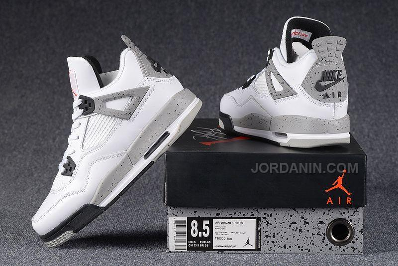 "new style c60d1 f2a46 2016 Nike Air Jordan 4 Retro ""White Cement"" For Sale"