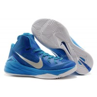 "Nike Hyperdunk 2014 ""Game Royal"" Blue Hero/Metallic Silver-White New"