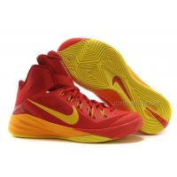 "Nike Hyperdunk 2014 ""Spain"" University Red/University Gold-Team Red New"