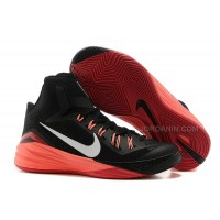 Nike Hyperdunk 2014 Black/Metallic Silver/Hyper Punch For Sale New