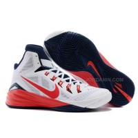 "Nike Hyperdunk 2014 ""USA"" White/University Red-Obsidian For Sale New"