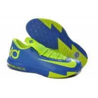 Girls Nike KD 6 Royal Blue/Neon Green For Sale Free Shipping