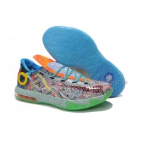 "Girls Nike KD 6 ""What The KD"" Hoop Purple/Urgent Orange-Shark For Sale Free Shipping"