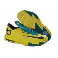 """Girls Nike KD 6 """"Seat Pleasant"""" Yellow/Teal For Sale Free Shipping"""