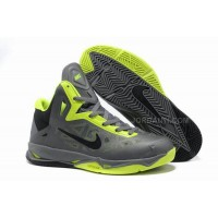 2013 NBA All Stars Basketball Shoes Grey/Fluorescent Green For Sale
