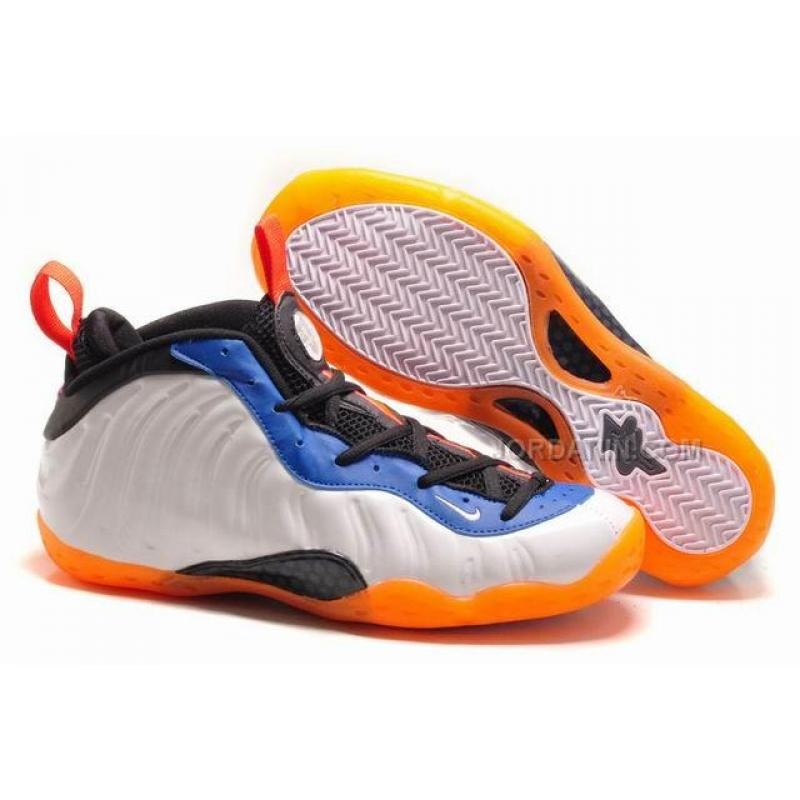 4f0370bf56e Nike Air Foamposite One White Blue Orange Online
