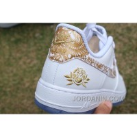 Air Force 1 Chinese New Year White Gold Peony Super Deals
