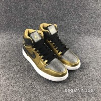 Air Jordan 1 High GS BHM Black Gold Women Online