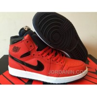 2016 Air Jordan 1 High Red Black Shoes For Sale