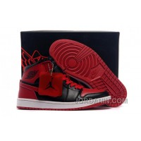 Air Jordans 1 High Chicago Bulls Black/Varsity Red Shoes For Sale
