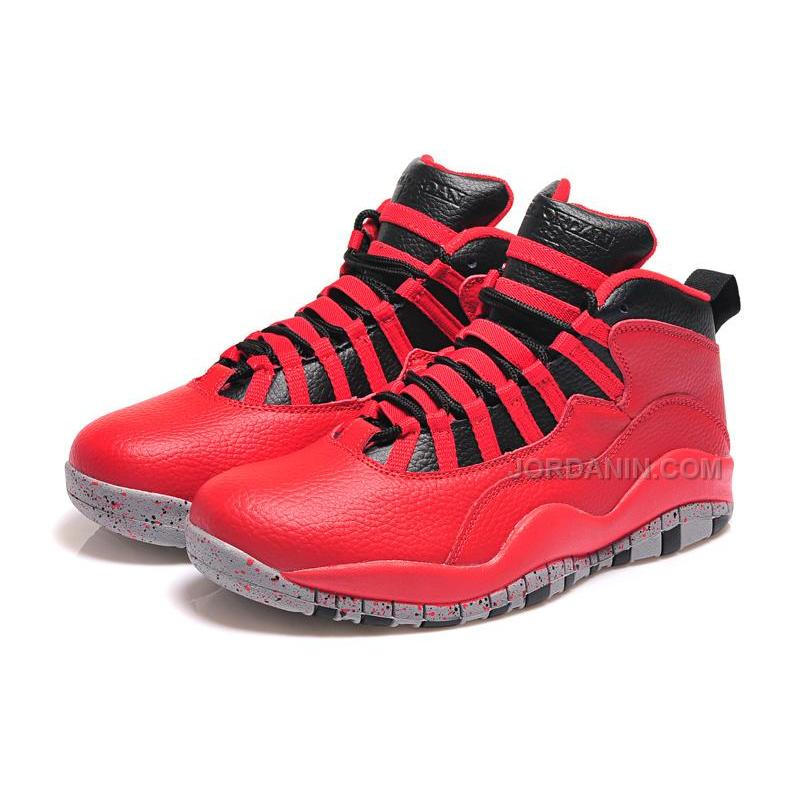 "7f313073b7be 2015 Air Jordan 10 Retro ""Bulls Over Broadway"" Gym Red Black-Wolf ..."