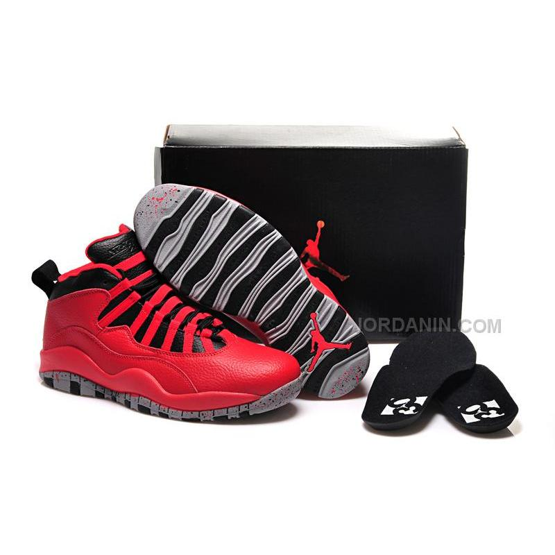 "c000f6d291db75 2015 Air Jordan 10 Retro ""Bulls Over Broadway"" Gym Red Black-Wolf ..."