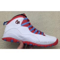 "2016 Air Jordan 10 ""Chicago Flag"" White/Light Crimosn-University Blue-Black"