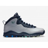 "2016 Air Jordan 10 ""Rio"" Wolf Grey/Photo Blue-Obsidian-Green Glow"