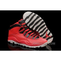 """Air Jordans 10 """"Gym Red"""" Gym Red/Black-Wolf Grey Shoes For Sale"""