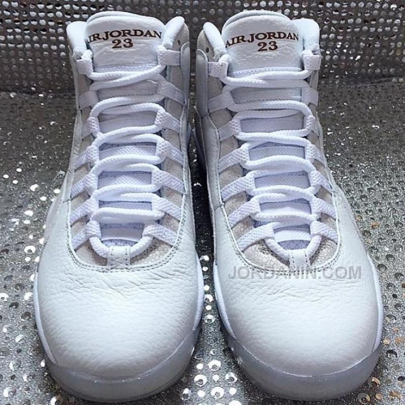 "0c3d43b7305d78 ... Wholesale 2015 Drake s Air Jordan 10 ""OVO"" White Online ..."