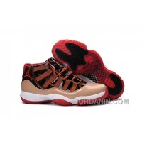 2016 Air Jordan 11 Brown Red Black For Sale