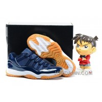 "2016 Air Jordan 11 Low ""Navy Gum"" Midnight Navy/White-Light Gum Brown"