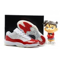 2016 Air Jordan 11 Low White Varsity Red