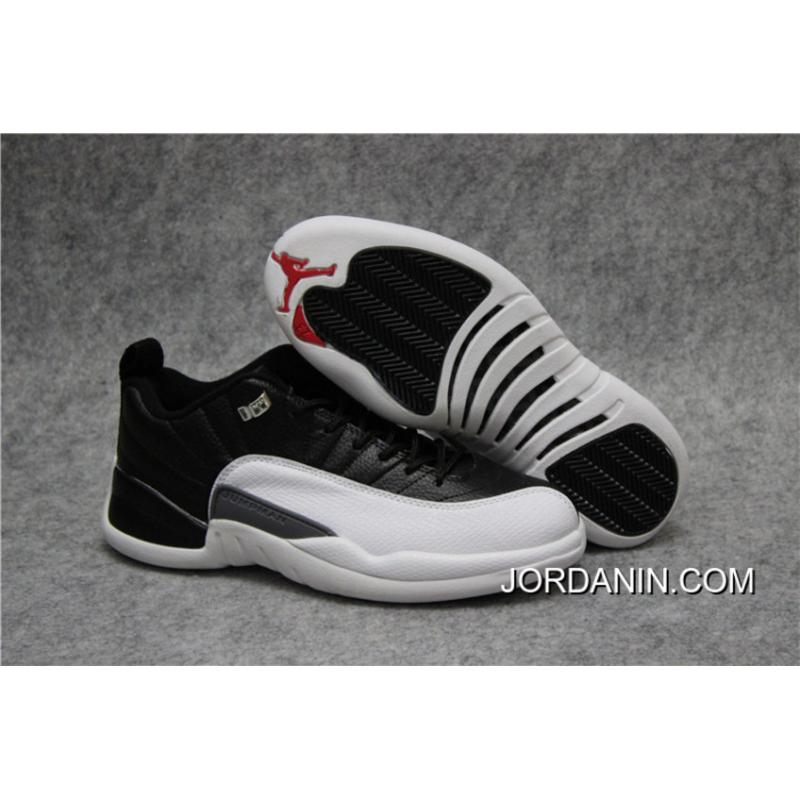 big sale ad430 e86f3 'Playoffs' Air Jordan 12 Low Black/Varsity Red-White Best