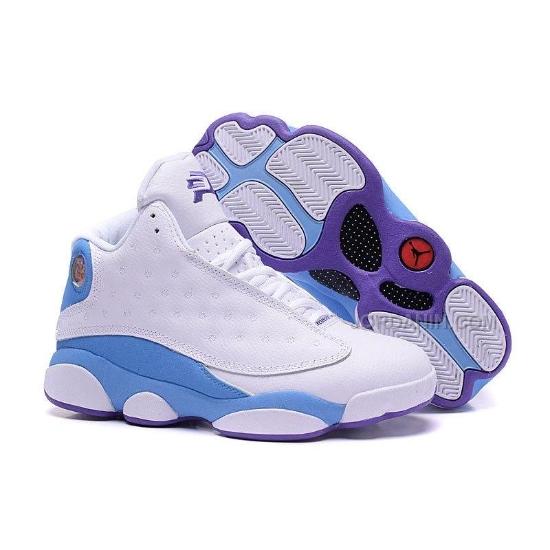 """new product 5a85d dafd6 Air Jordan 13 CP3 Hornets """"Home"""" White Blue Purple For Sale"""