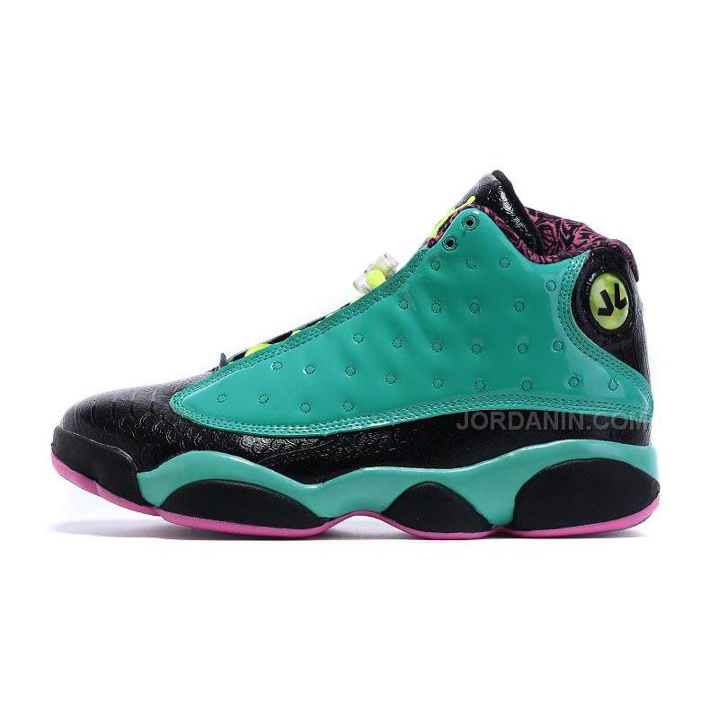 "low cost 70362 17196 ... 2015 Air Jordan 13 ""Doernbecher"" Teal Black Yellow For Sale ..."