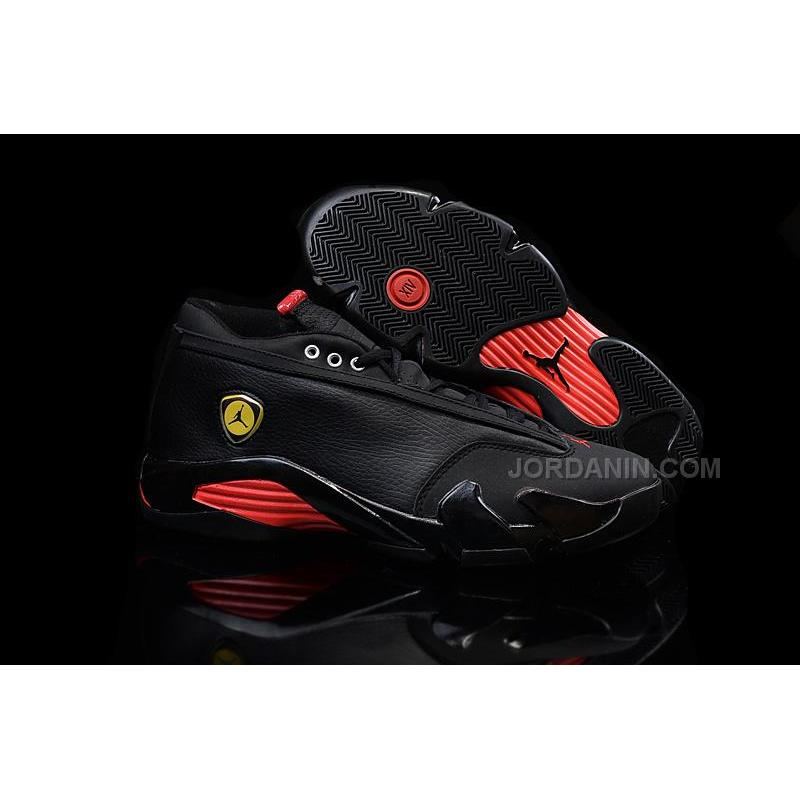 d788a2e9a68 Hot Nike Air Jordan 14 Retro Low Black Red, Price: $74.00 - New ...