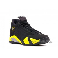 "Air Jordans 14 Retro ""Thunder"" Black/Vibrant Yellow-White For Sale"