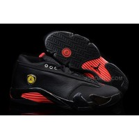 Air Jordan 14 Retro Low Black Leather/Gym Red For Sale
