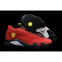 "Air Jordan 14 Retro Low ""Red Suede Ferrari"" 2015 New Released"
