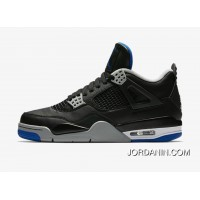 Air Jordan Retro 4 Alternate Motorsport Black/Game Royal/Matte Silver Top Deals