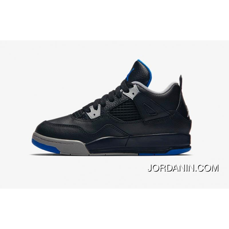 official photos 2c8ac 0624a ... Air Jordan Retro 4 Alternate Motorsport Black Game Royal Matte Silver  Top Deals ...