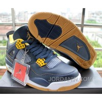 Air Jordan 4 Dunk From Above Navy Blue Yellow Cheap To Buy