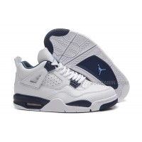 2015 Air Jordan 4 Retro White/Legend Blue-Midnight Navy For Sale New Arrival