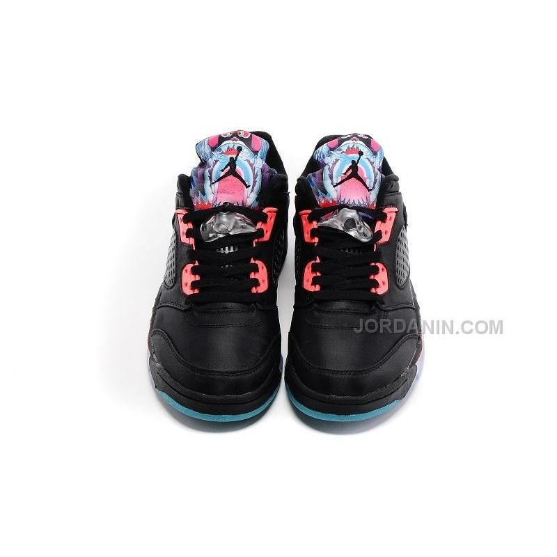 cheaper a8e85 3faef ... Air Jordan 5 Low Chinese New Year Black Bright Crimson Hyper Jade Sale