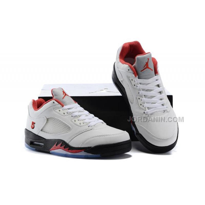 "sale retailer e3c17 e300d ... Air Jordan 5 Low ""Fire Red"" PE White Fire Red-Black 2016"