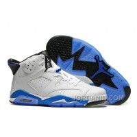 "2016 Air Jordan 6 ""Sport Blue"" White/Sport Blue-Black"