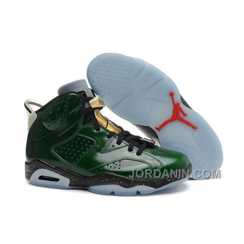 """competitive price 89099 50fec USD  96.00  278.40. Air Jordans 6 Retro """"Champagne Bottle"""" Pro Green Metallic  Gold-Chilling Red ..."""