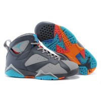 "Air Jordan 7 Retro ""Barcelona Days"" Wolf Grey-Total Orange-Turquoise Blue"